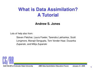 What is Data Assimilation A Tutorial