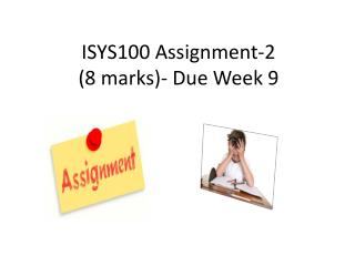 ISYS100 Assignment-2 (8 marks)- Due Week 9
