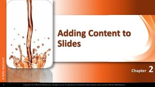Adding Content to Slides