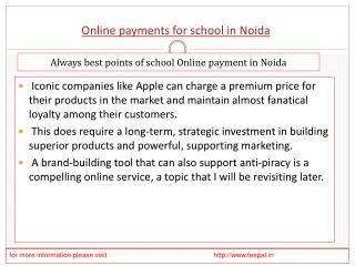 How to Deal With an online payment for school in noida