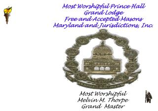 Most Worshipful Prince Hall Grand Lodge Free and Accepted Masons Maryland and Jurisdictions, Inc.