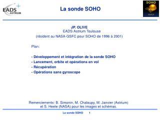 La sonde SOHO