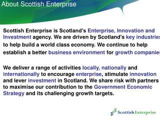 About Scottish Enterprise