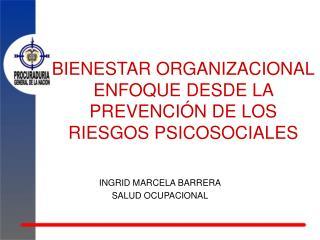 BIENESTAR ORGANIZACIONAL ENFOQUE DESDE LA PREVENCIÓN DE LOS RIESGOS PSICOSOCIALES