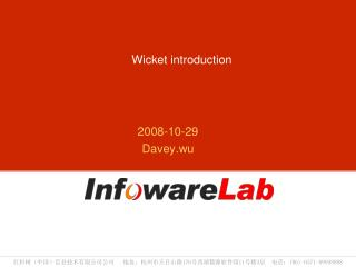 Wicket introduction