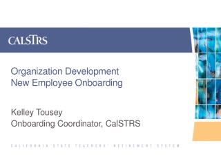 Organization Development New Employee Onboarding