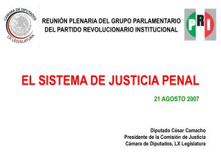 EL SISTEMA DE JUSTICIA PENAL        21 AGOSTO 2007