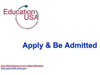 Apply & Be Admitted