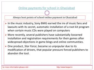 Free Access for the online payment for school in Ghaziabad