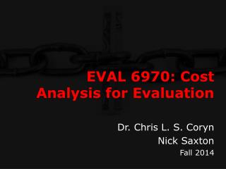 EVAL 6970: Cost Analysis for Evaluation