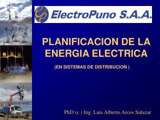 PLANIFICACION DE LA ENERGIA ELECTRICA