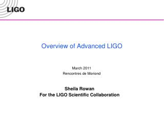 Overview of Advanced LIGO