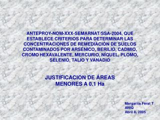 JUSTIFICACION DE ÁREAS MENORES A 0.1 Ha