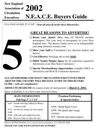 2002 N.E.A.C.E. Buyers Guide