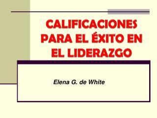 Elena G. de White
