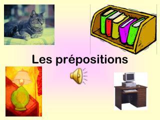 Les prépositions