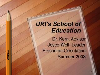 URI s School of Education
