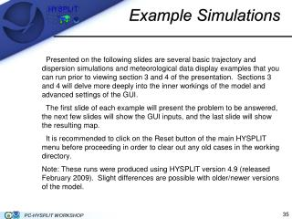 Example Simulations