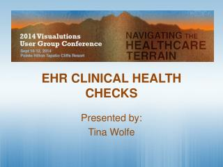EHR CLINICAL HEALTH CHECKS