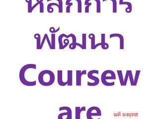 หลักการพัฒนา Courseware