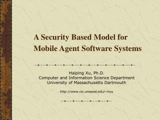 A Security Based Model for Mobile Agent Software Systems