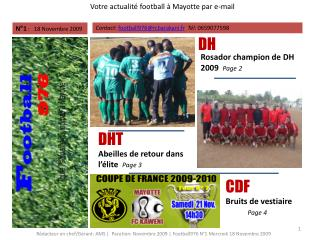 Votre actualité football à Mayotte par e-mail