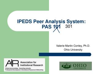 IPEDS Peer Analysis System: PAS 101