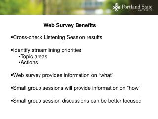 Web Survey Benefits