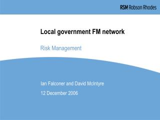 Local government FM network Risk Management