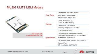 MU203 UMTS M2M Module
