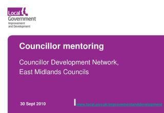 Councillor mentoring