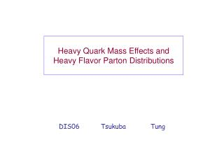 Heavy Quark Mass Effects and  Heavy Flavor Parton Distributions