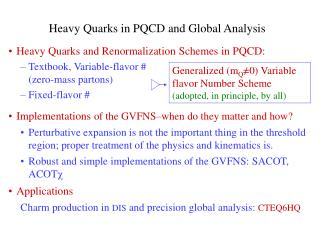 Heavy Quarks in PQCD and Global Analysis