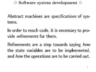 MACHINE Team SETS ANSWER={in, out} VARIABLES team INVARIANT team <: 1..22 & card(team)=11