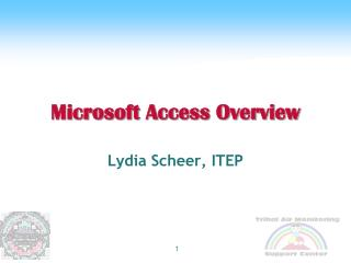Microsoft Access Overview