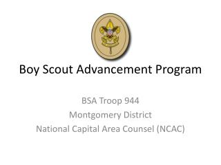 Boy Scout Advancement Program