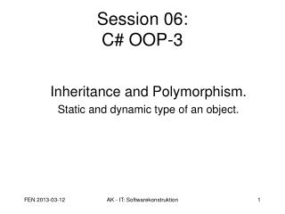 Session 06: C# OOP-3