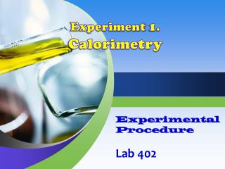 Experimental  Procedure Lab  402