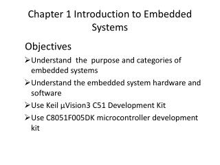 Chapter 1 Introduction to Embedded Systems