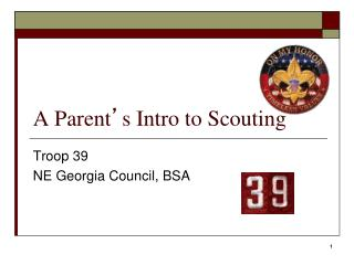 A Parent ' s Intro to Scouting