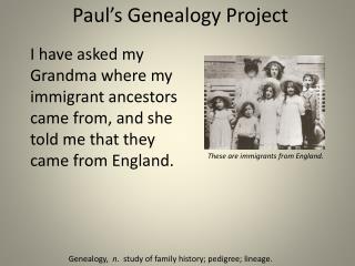 Paul's  Genealogy  Project