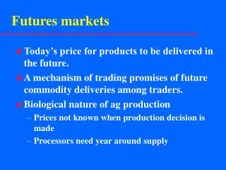 Futures markets
