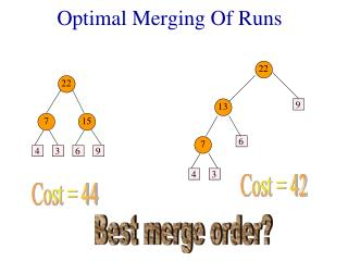 Optimal Merging Of Runs
