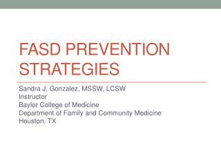 Fasd  prevention strategies