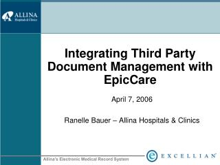 Integrating Third Party Document Management with EpicCare