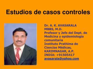 Estudios de casos controles