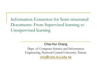 Chia-Hui Chang