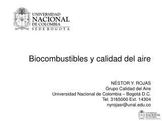 Biocombustibles y calidad del aire