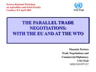 THE PARALLEL TRADE NEGOTIATIONS: WITH THE EU AND AT THE WTO