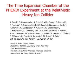 The Time Expansion Chamber of the PHENIX Experiment at the Relativistic Heavy Ion Collider